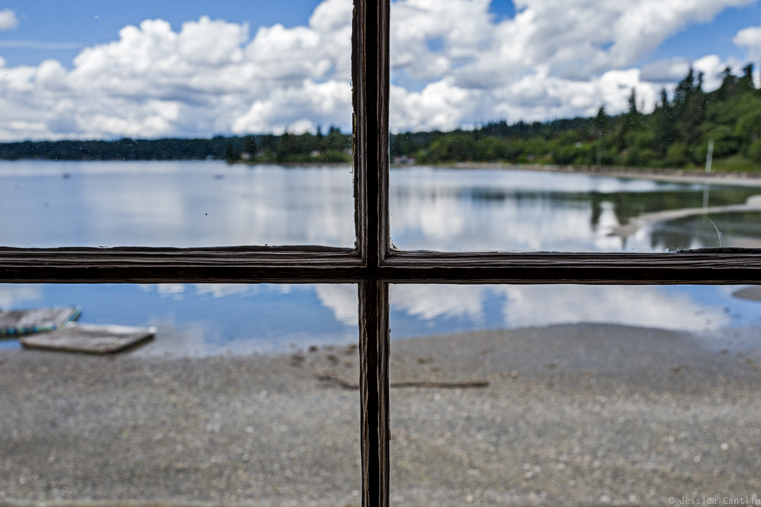 Looking out on Quartermaster Harbor.