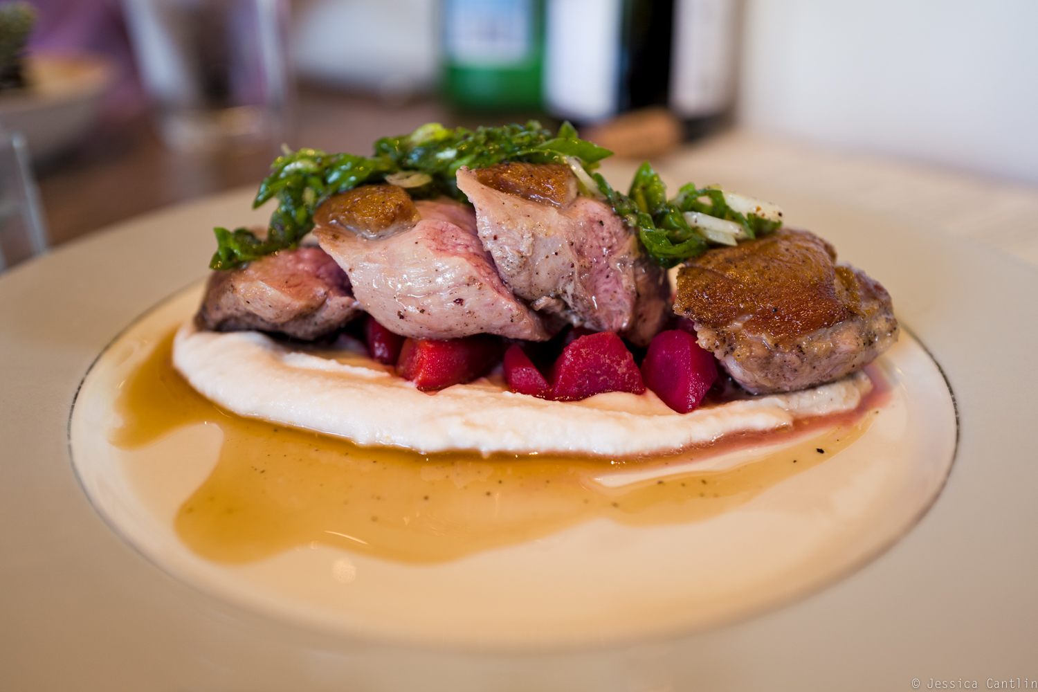 Seared duck breast at Bamble House.