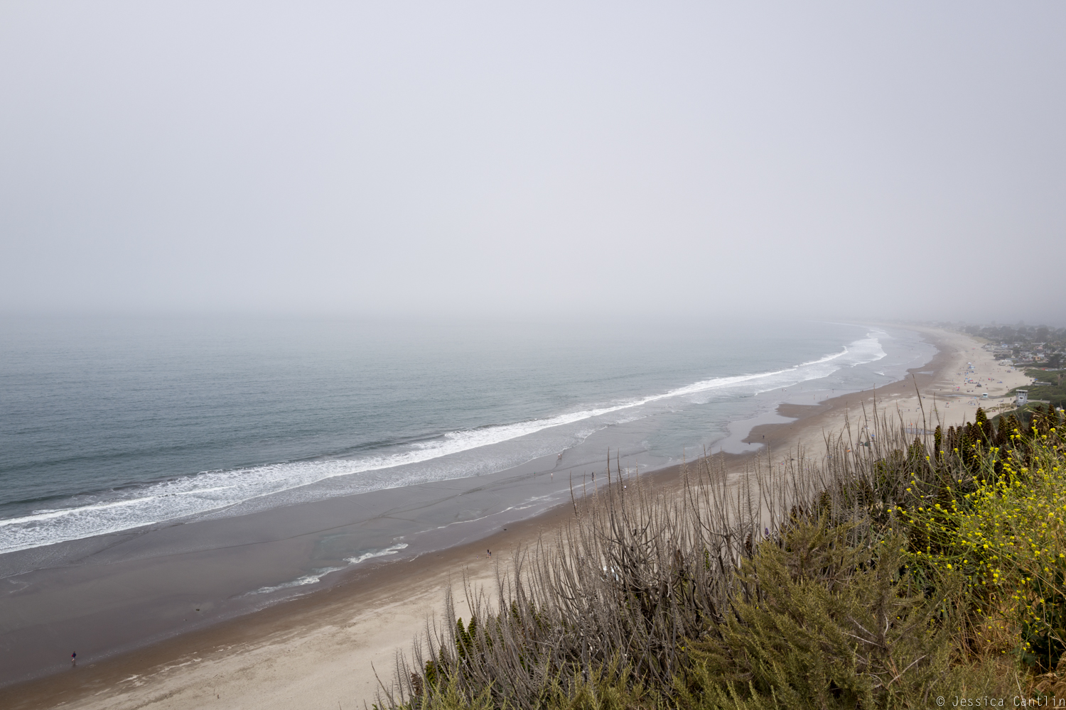 Foggy morning at Stinson Beach