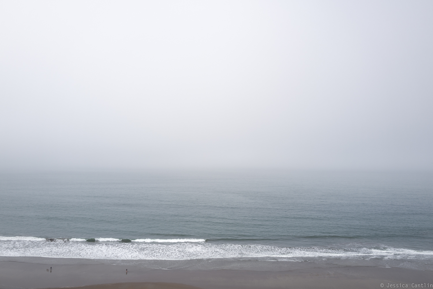 Stinson Beach in the fog