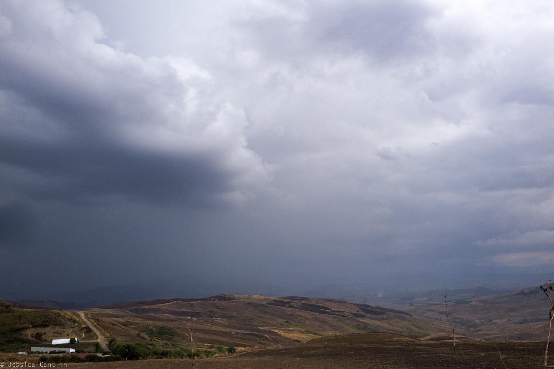 View of the Sicilian hillside