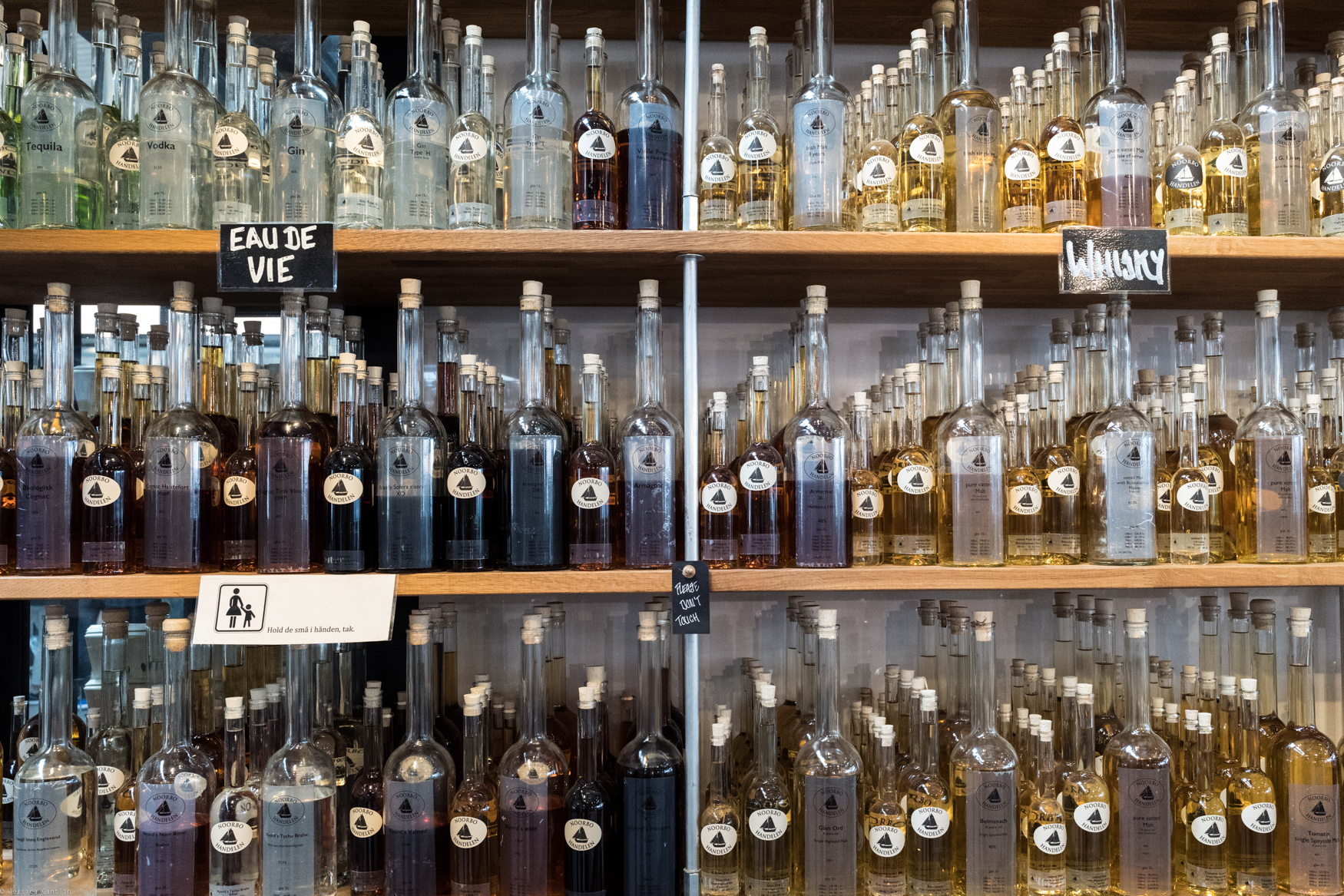 Spirits for sale at Torvehallerne