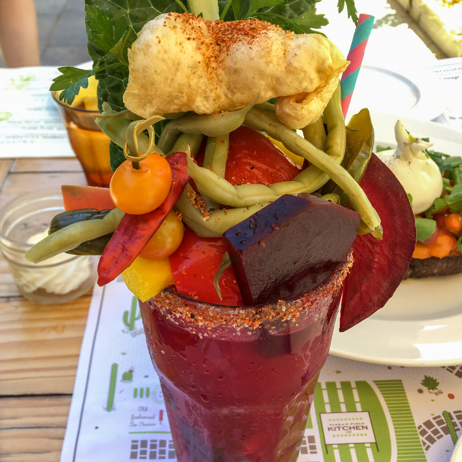 The best Bloody Mary ever at Flora Farms