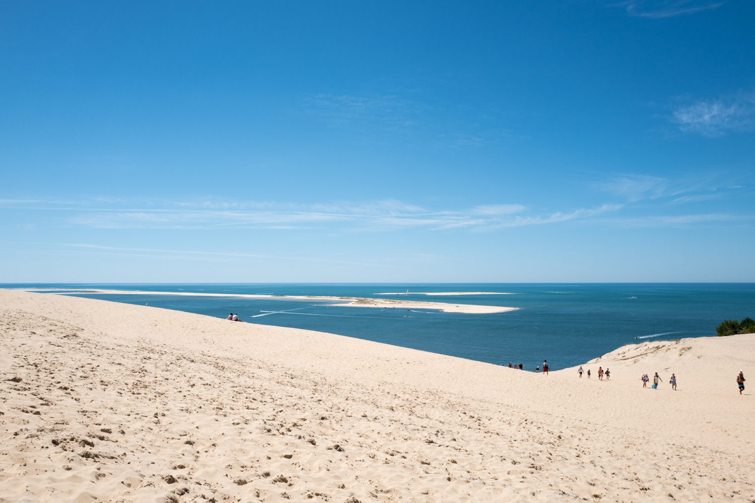 View from the top of the Dune du Pilat