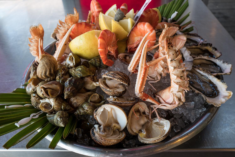 Seafood lunch at La Co(o)rniche