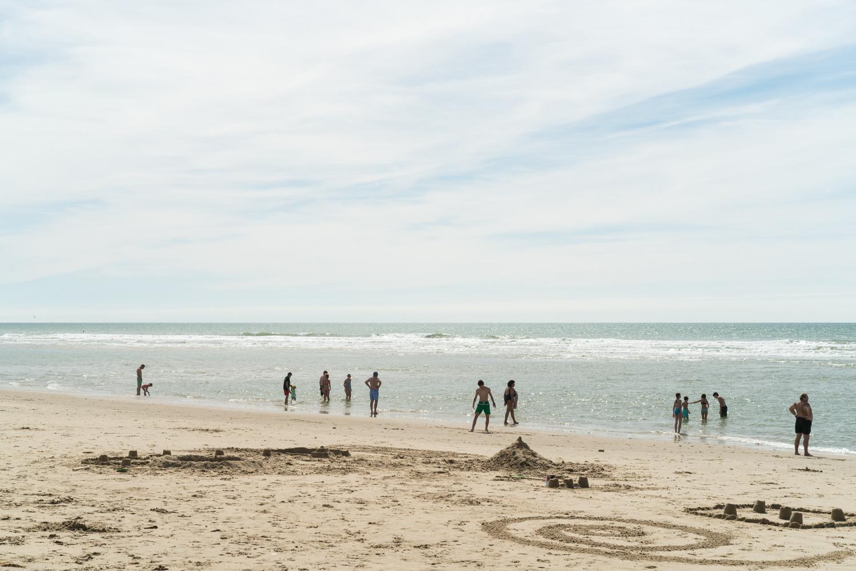 White sand beach at Soulac-sur-Mer