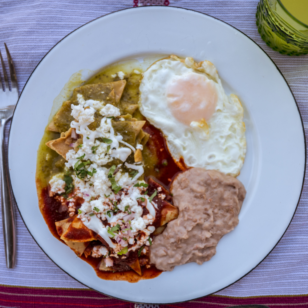 Chilaquiles for breakfast at Bruma.