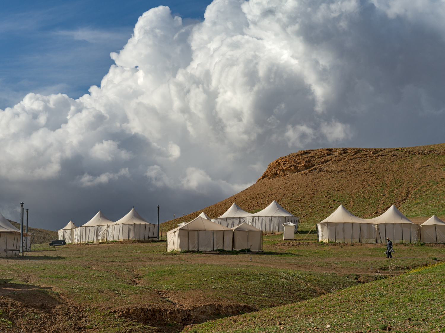 Guest tents at Scarabeo Camp