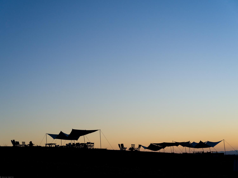 Dawn at Scarabeo Camp