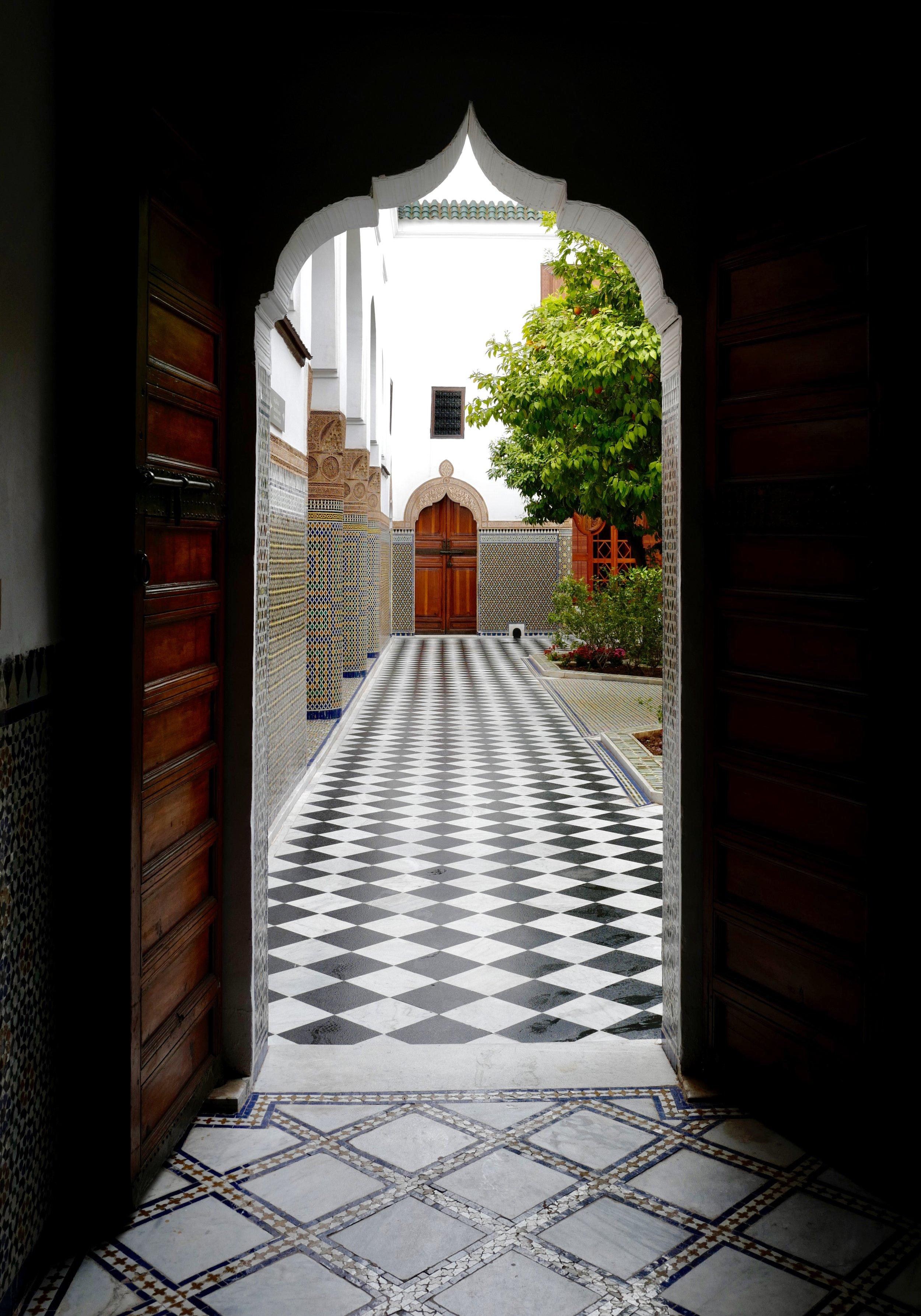 Portico at Bahia Palace