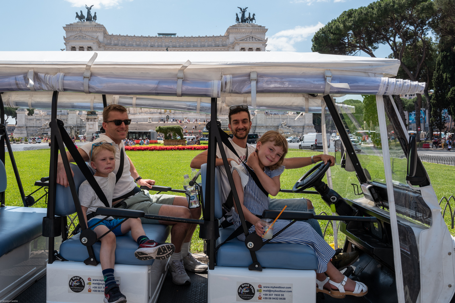 Touring Rome by Golf Cart