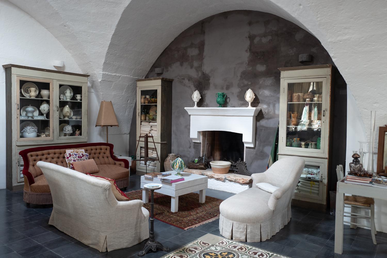 Living Room Details at Masseria Potenti