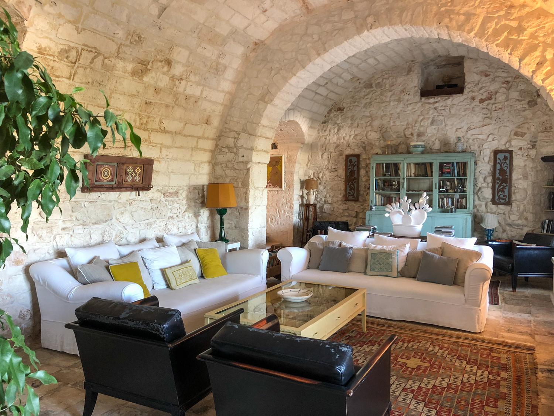 Living Room at Masseria Cervarolo