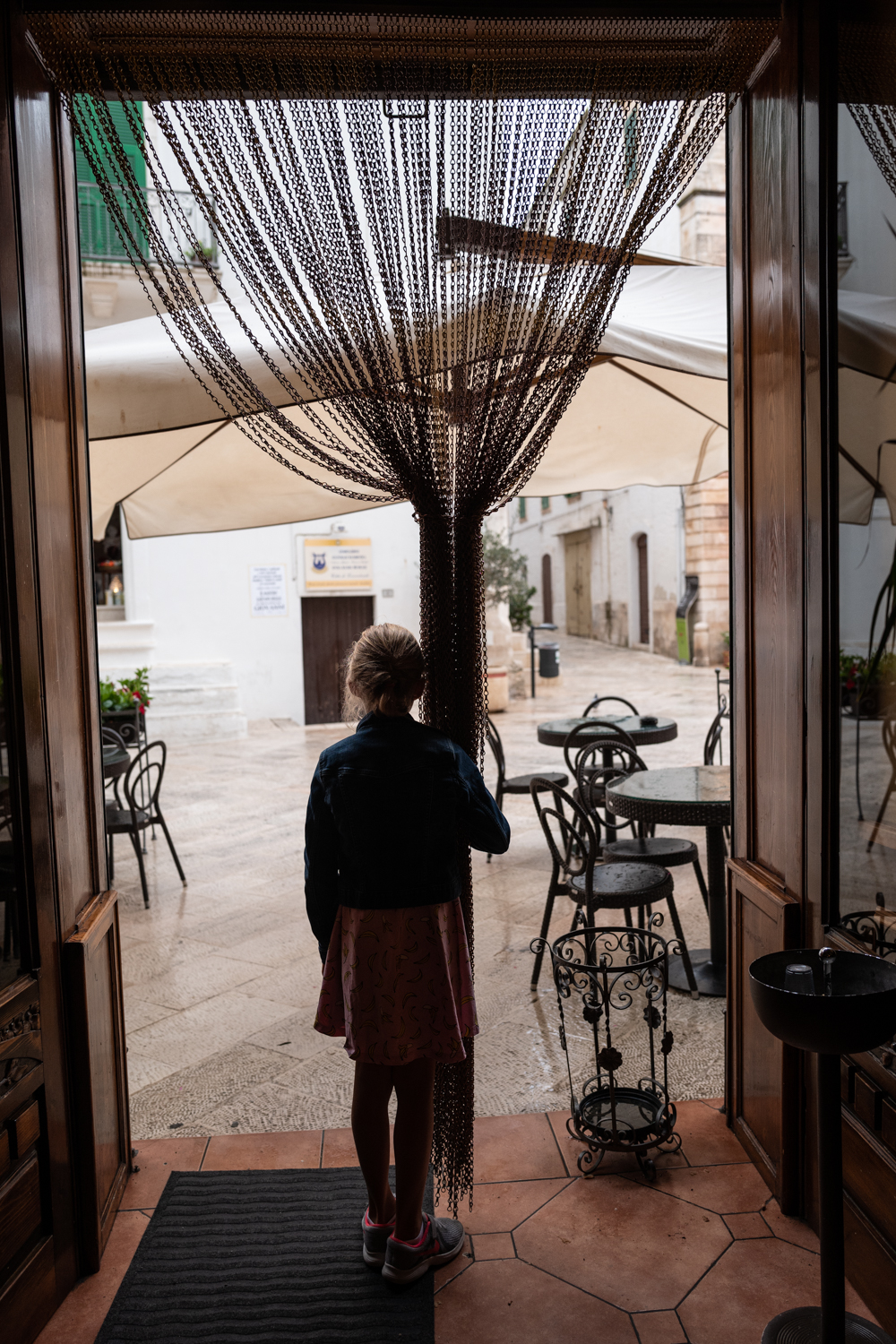 Waiting out the storm in Cisternino