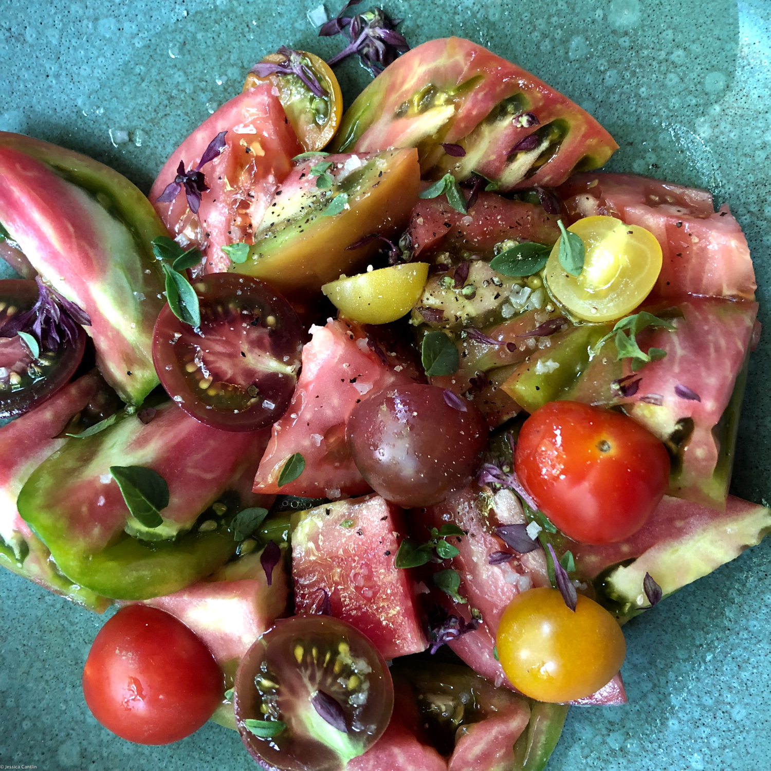 Seasonal Tomato Salad at The Charter Oak