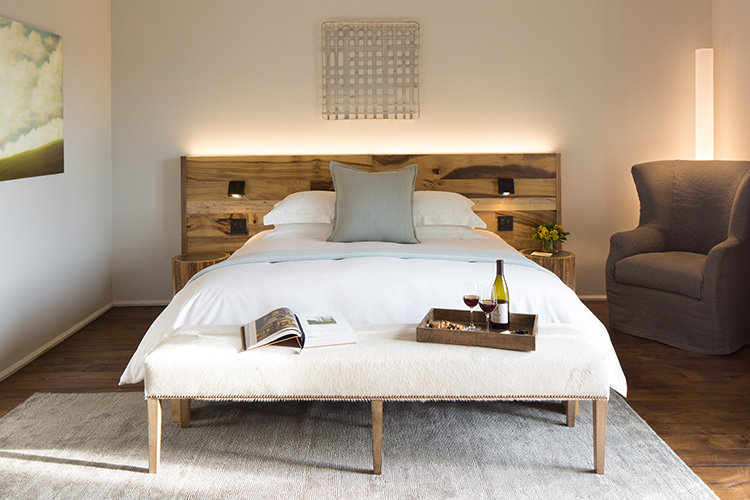 Guestroom at Hotel Healdsburg  (photo courtesy of Hotel Healdsburg)