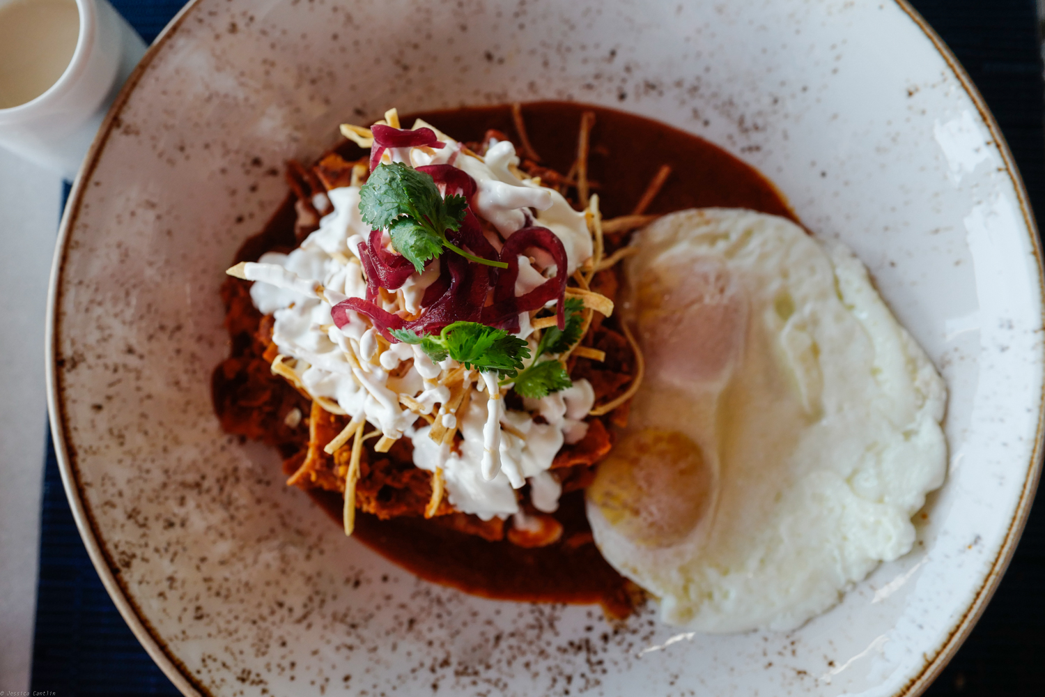 Chilaquiles at Mezcal