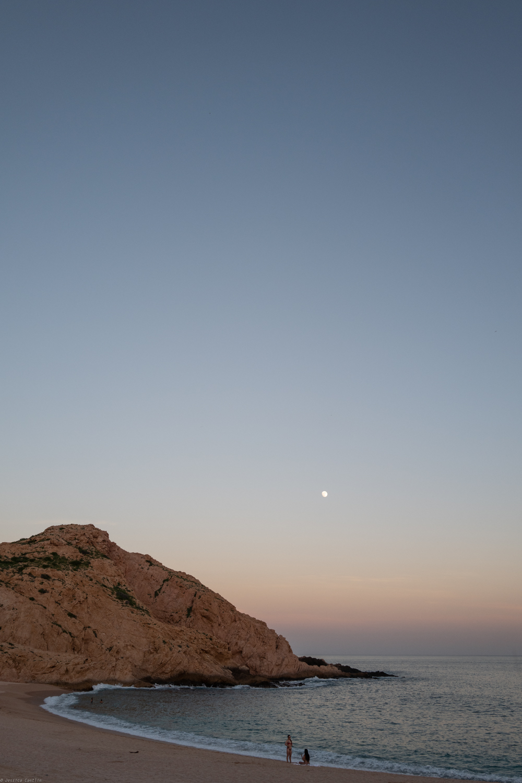 Full Moon Sunset over Santa Maria Bay