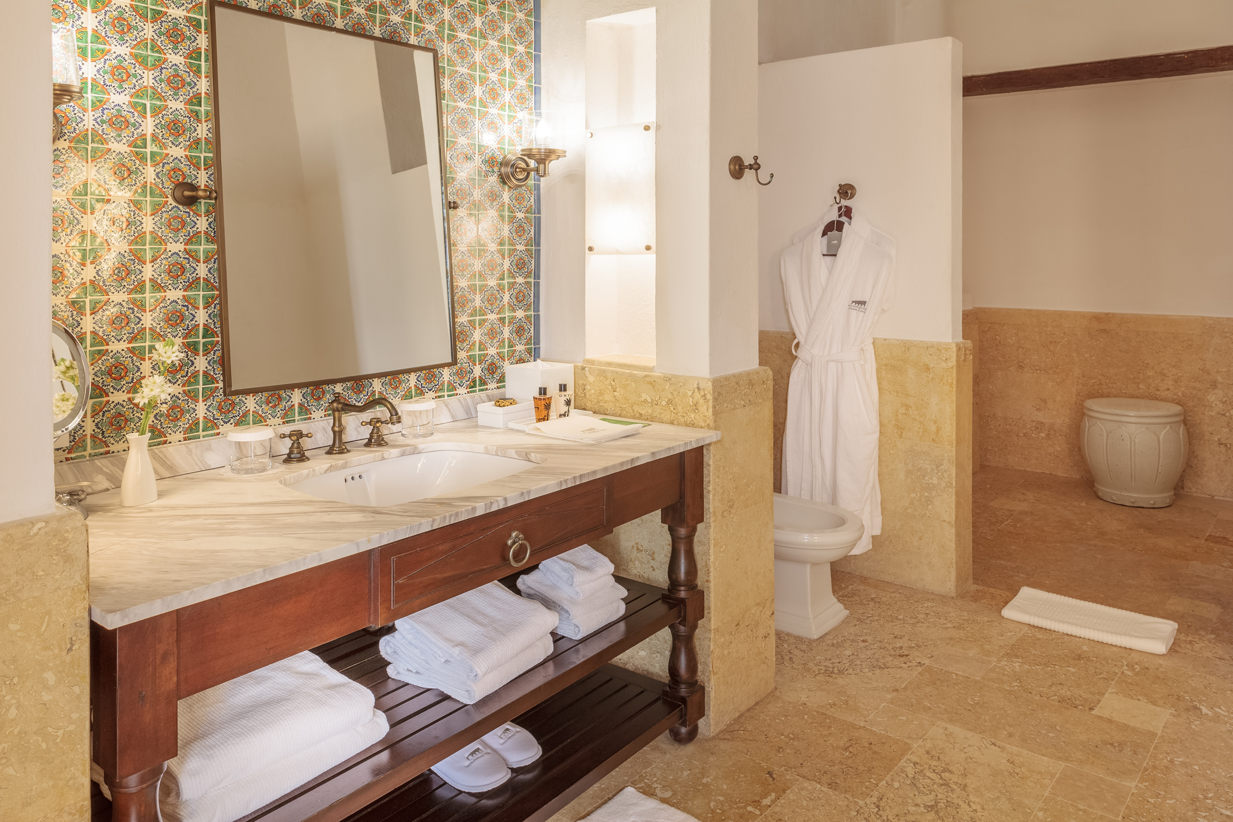 Guest Bathroom at Hotel Casa San Agustin ( photo courtesy of Hotel Casa San Agustin)