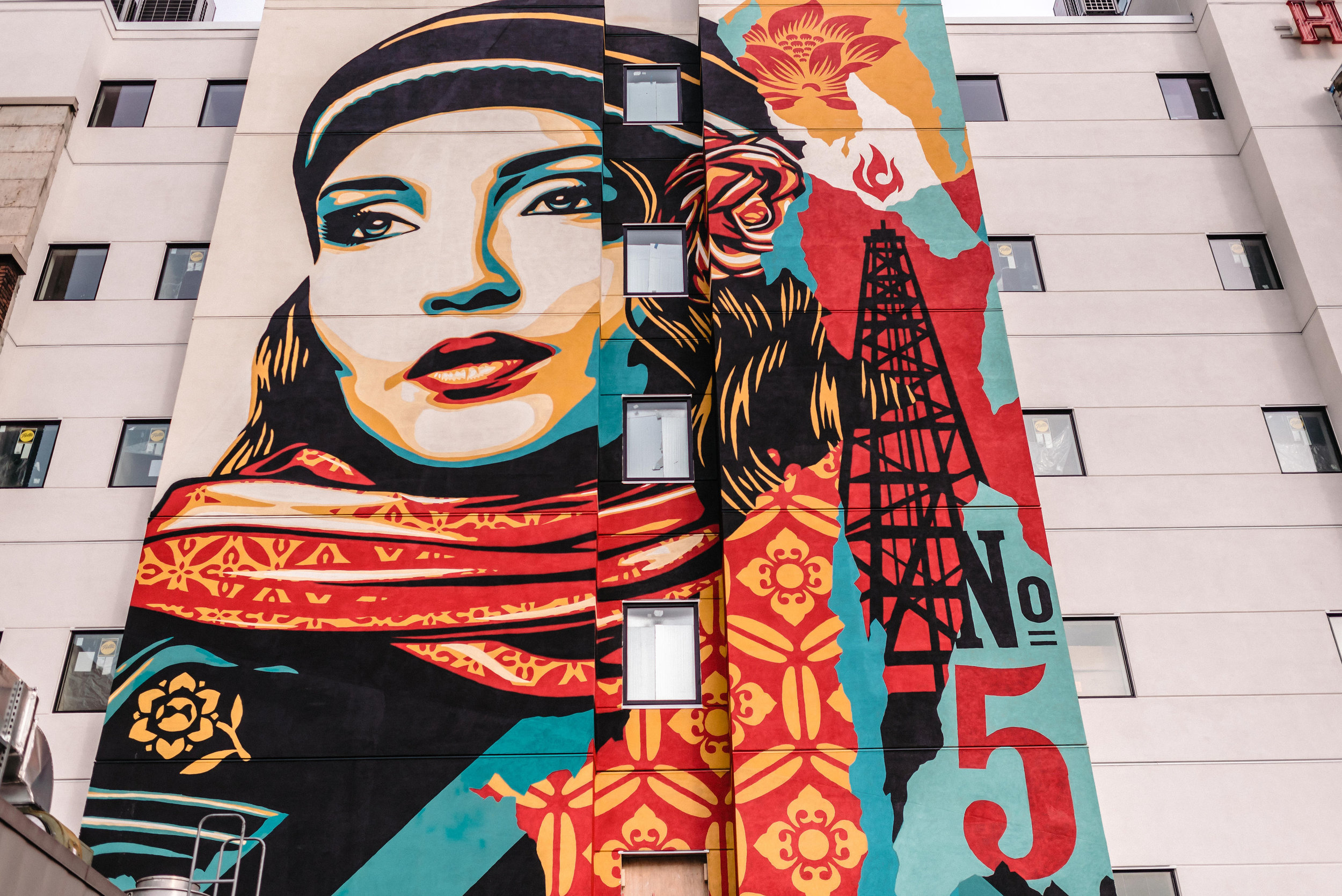 Building Mural at The State Hotel  (photo courtesy of The State Hotel)