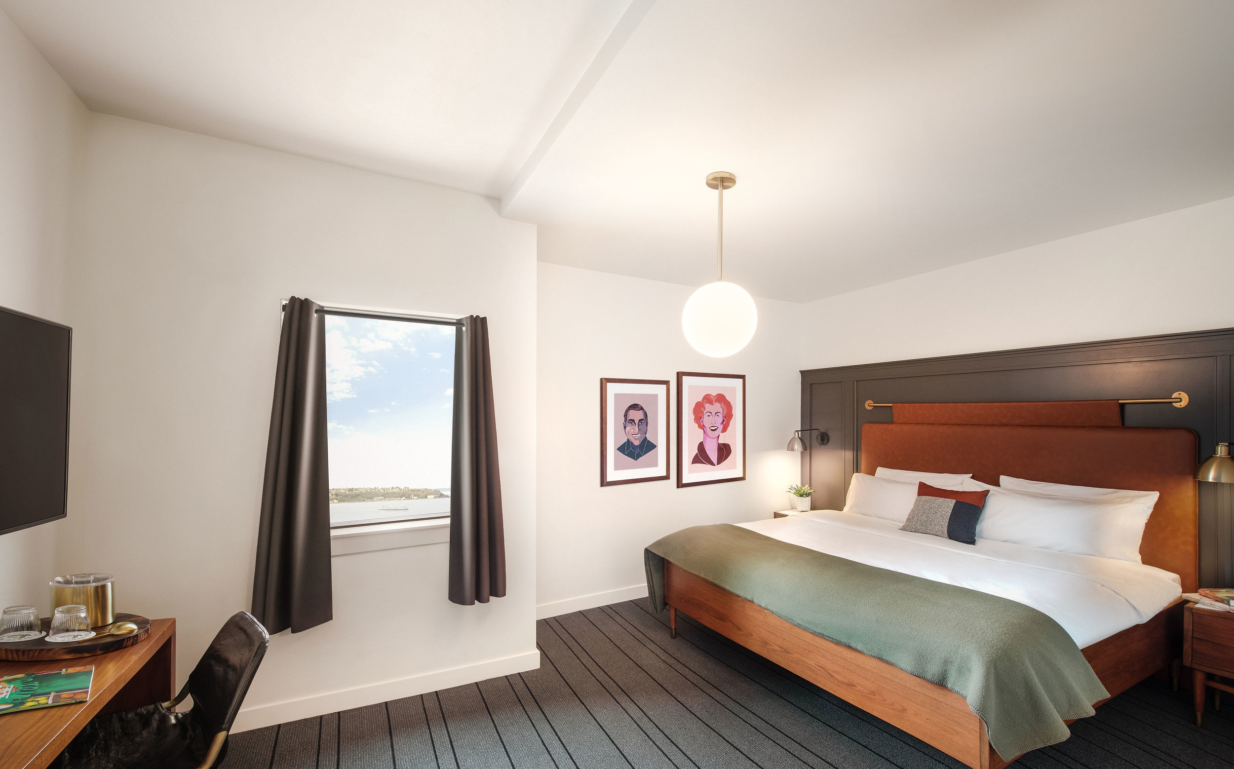 Guestroom  (photo courtesy of The State Hotel)