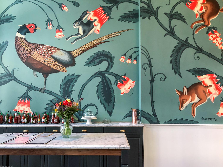 Mural by artist Kyle Martz in Ben Paris Restaurant