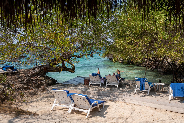 Relaxing at Coralina Island