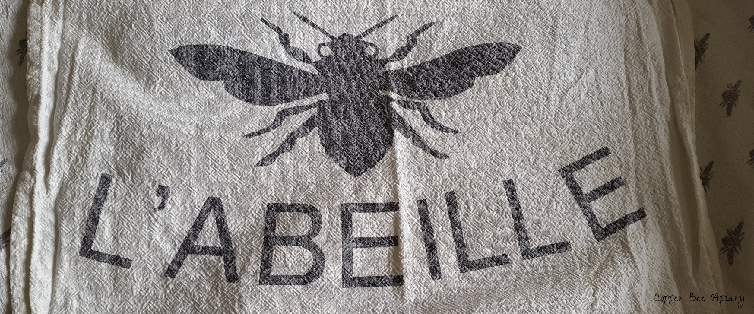 Beekeeping tea towel