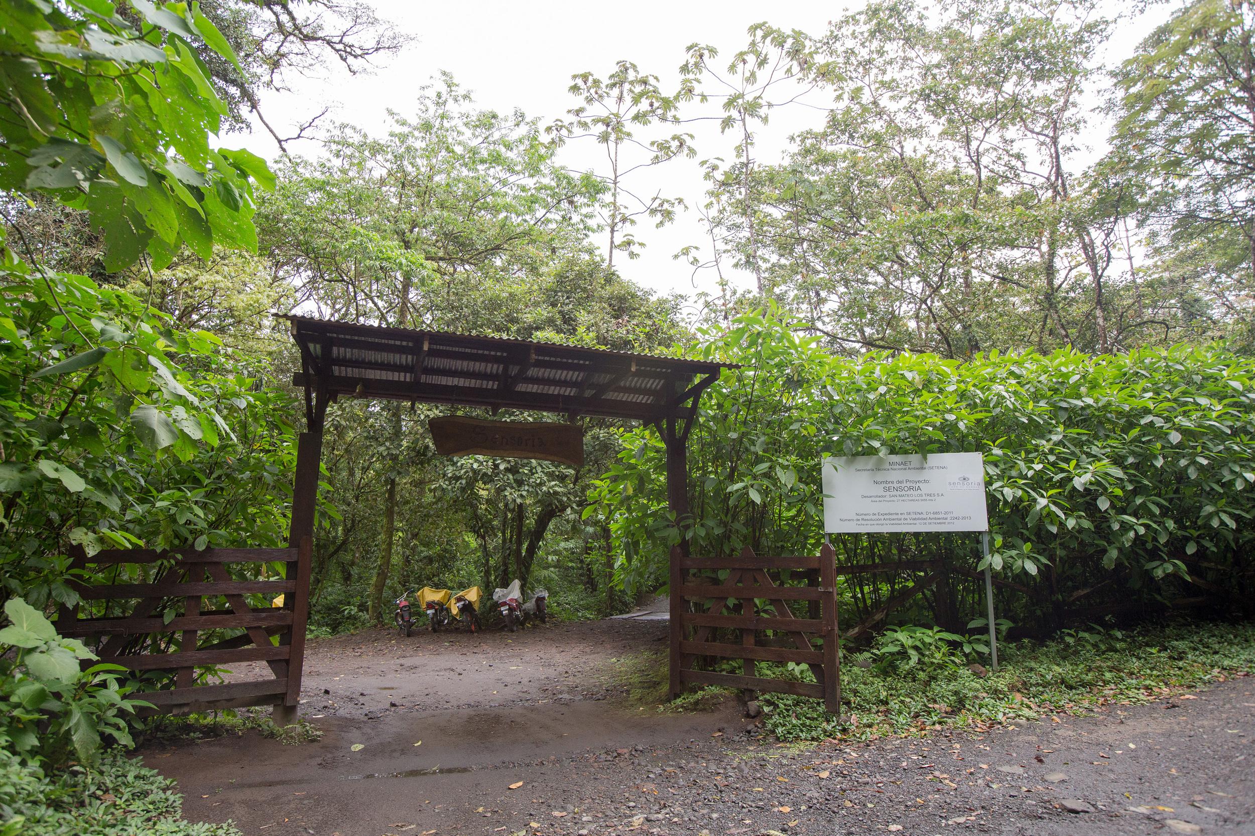 Sensoria Costa Rica sign
