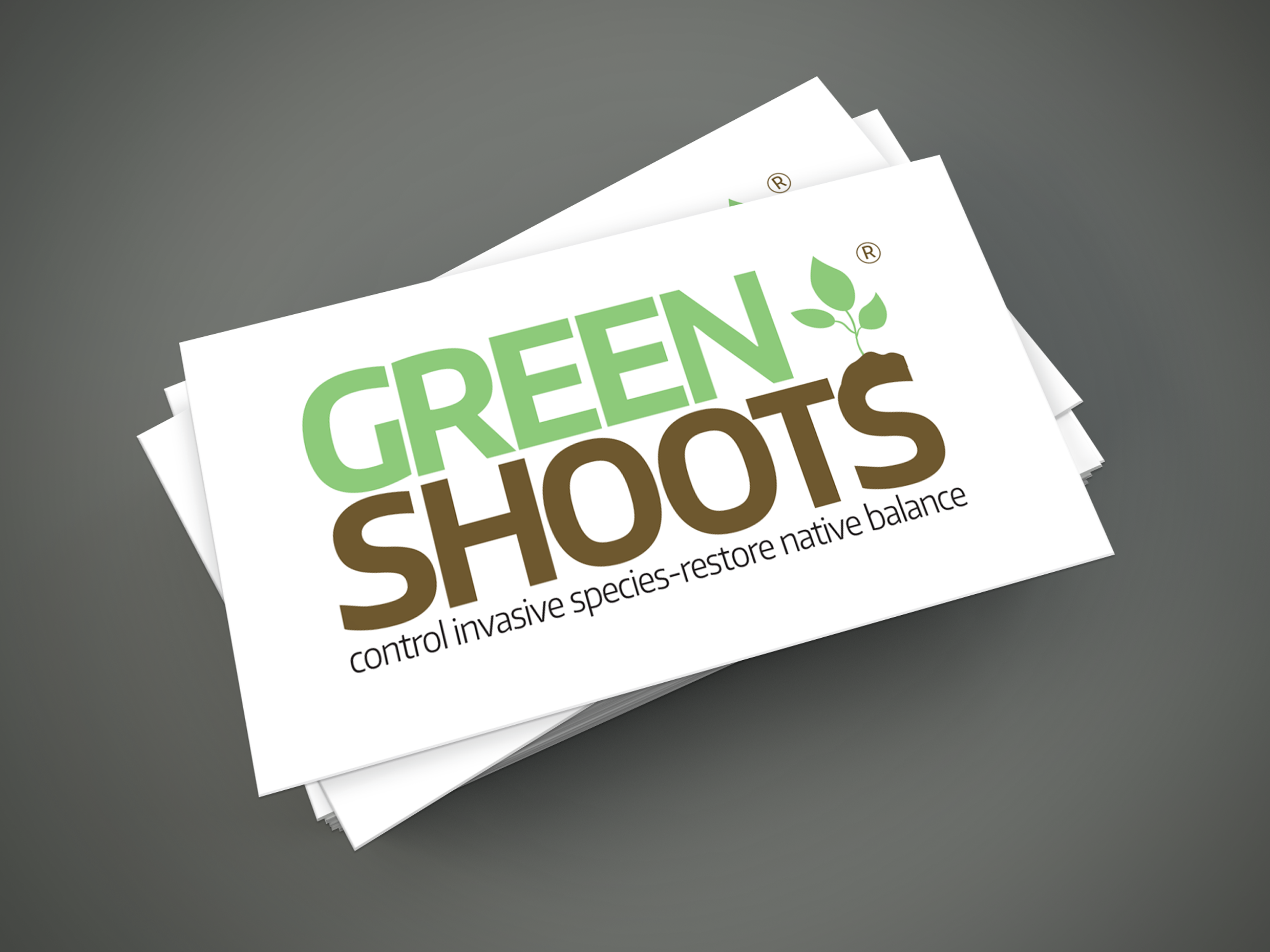 Green Shoots   Green Shoots offers products to control invasive plants. Their products offer precise control to target the invasive plants while lessening the chance of harm to native plants. Green Shoots hired me to do several projects as well as a complete rebrand of the company's logo. I used a combination of Illustrator, Photoshop, and InDesign to create their logo and marketing materials.