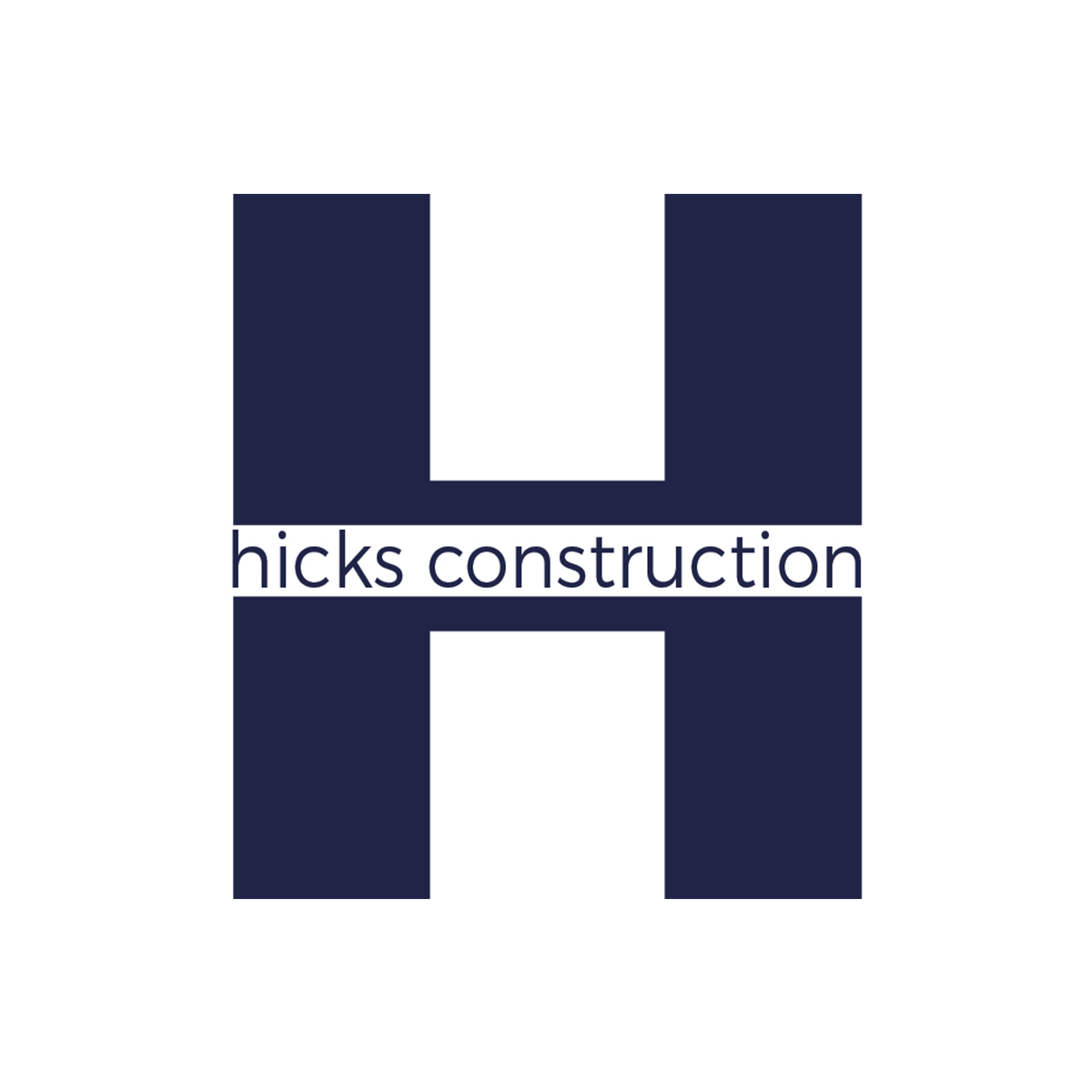 Hicks Construction   Hicks Construction specializes in general contracting work. They've been in business for years, but have never had a logo or any brand work done. They've always gone by word-of-mouth. They asked me to design a simple logo and a business card to get their branding started. I used a combination of Illustrator, Photoshop, and InDesign to create their logo and business cards.