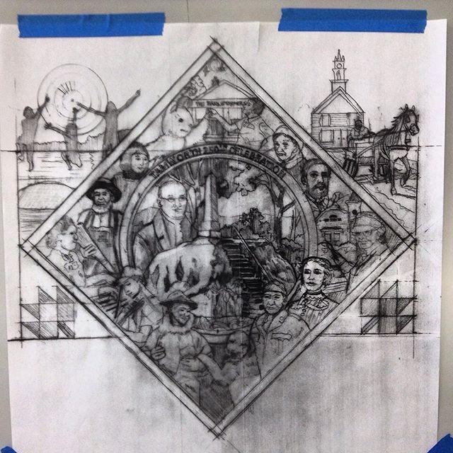 From this... #davidfichter #glassmosaic #mosaic #artstamworth #tamworth250thcelebration #nhsca #communityart