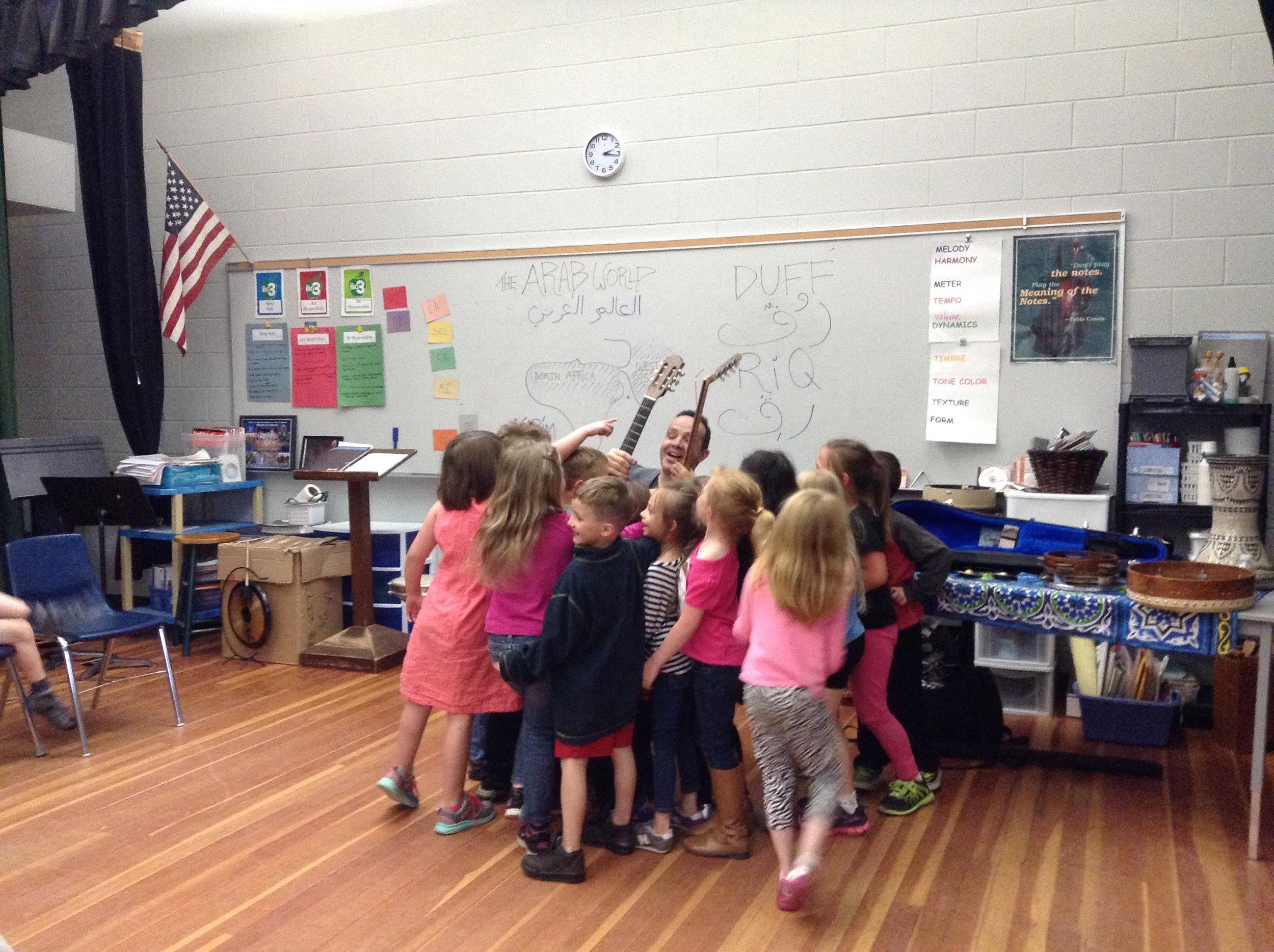 Egyptian musician & Dancer Karim Nagi shares his music with kindergarteners at ka brett school