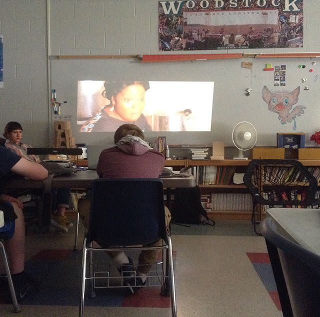 Day 1 in the classroom with artist-in-residence & documentary filmmaker Lily Keber