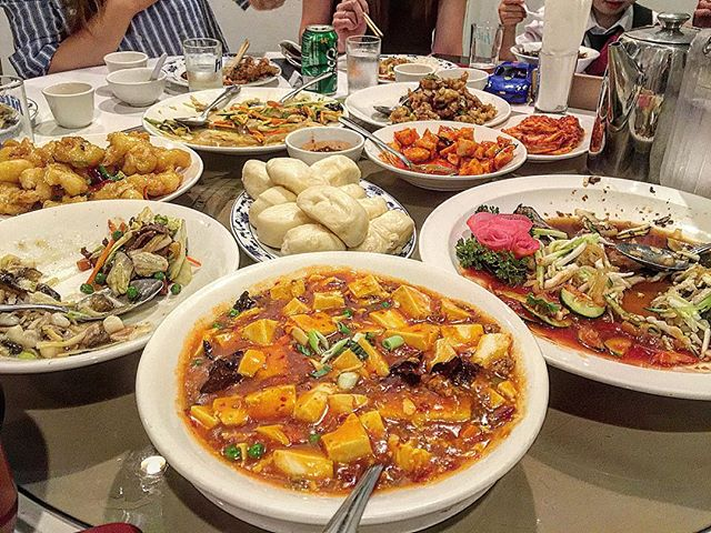 make sure you go to a #Chinese #restaurant with a lot of people... that way you can order one of everything off the menu 🙌 #instagood #losangeles #picoftheday #ktown