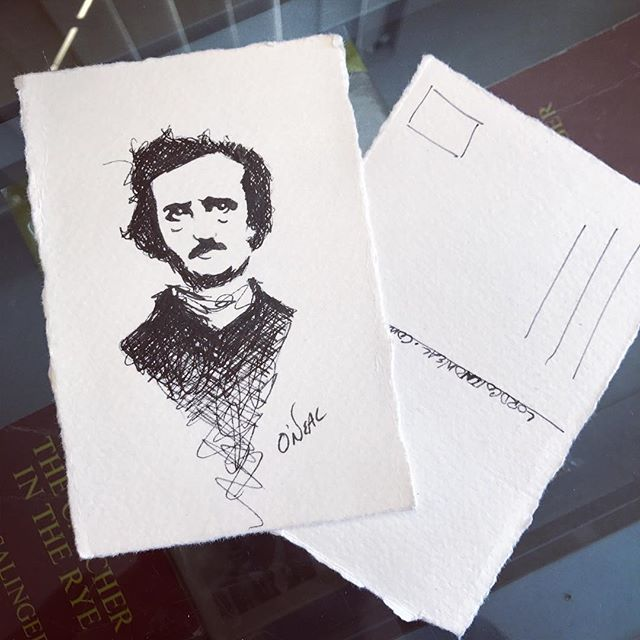 PICK a NUMBER between 1-200!!! 🎁 Guess correctly and I'll write/send you a hand drawn Edgar Allan Poe-stcard! ❤️🐦 (Two guesses per person please) Happy guessing!