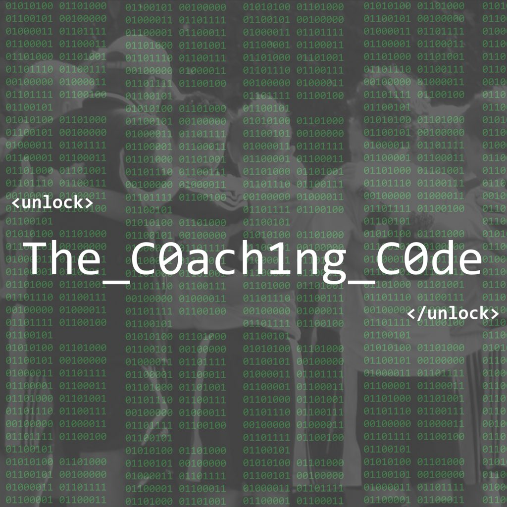 coaching code with Reed Maltbie  @Coach_Reed