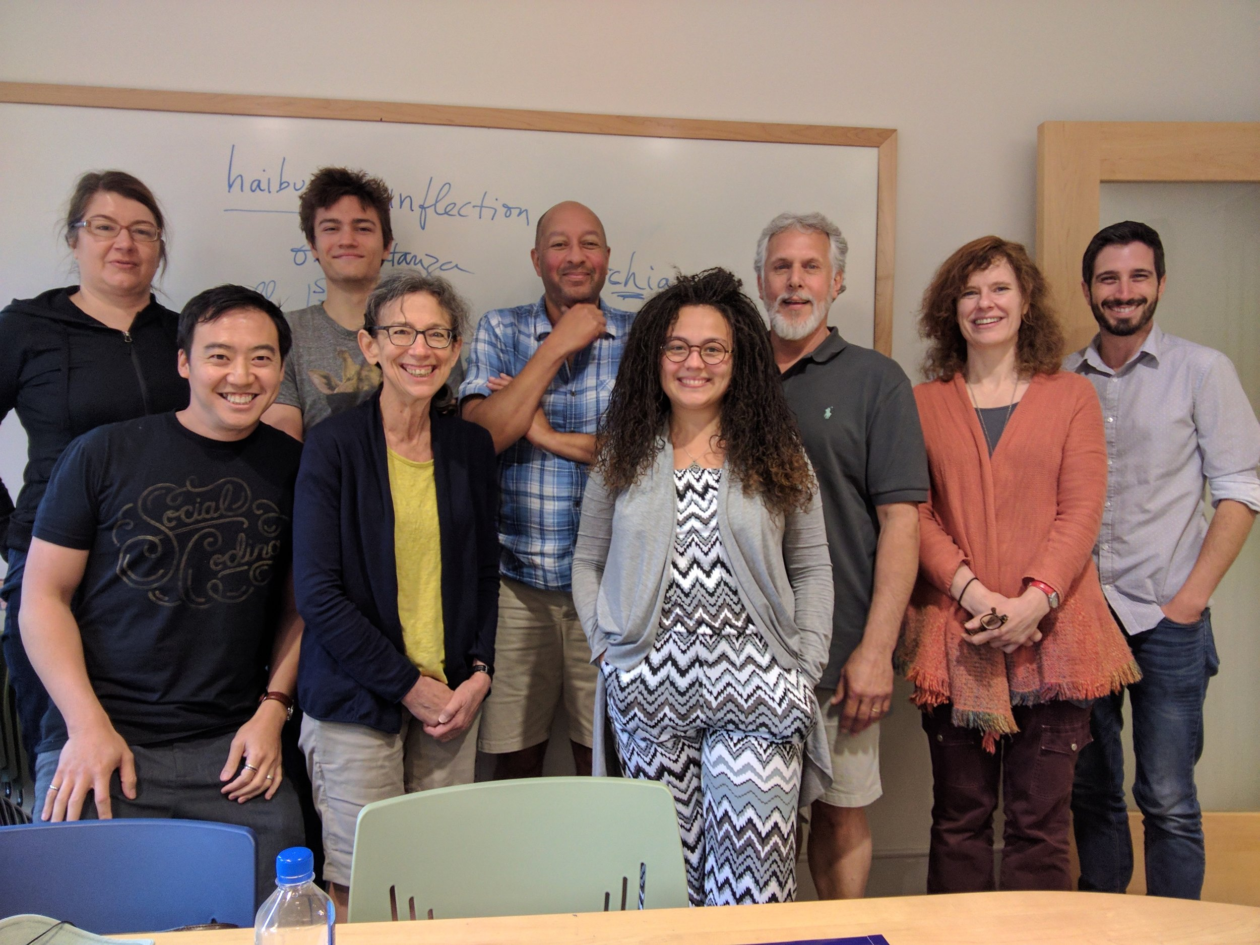 A stunning class of creativity, thanks to our fearless leader. Sasha, Me, Kyle, Pam, Carl Phillips, Britny, Lou, Martha, and our Kenyon Review Fellow, Jayme Ringleb.