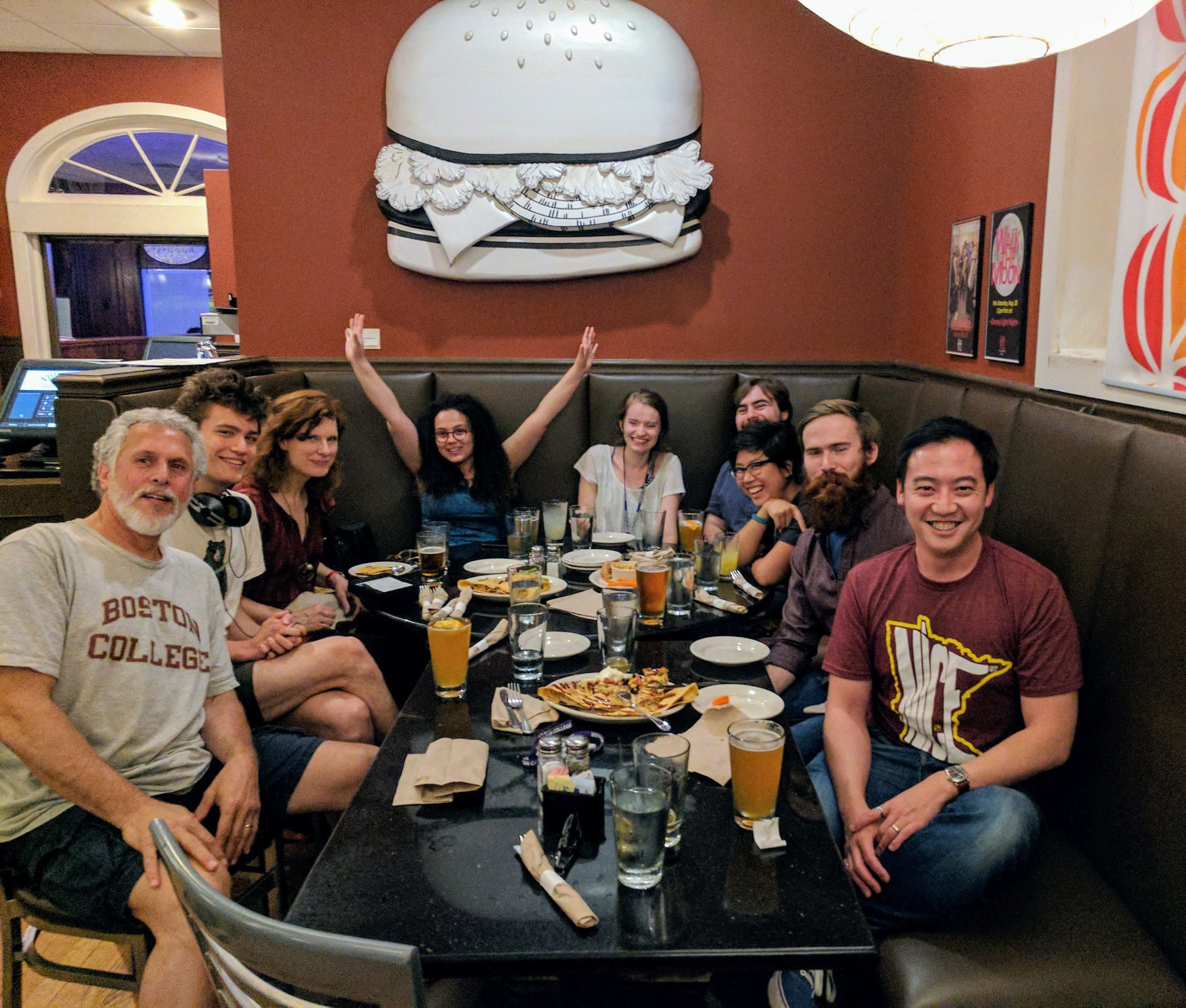 """Post writing, post critique celebratory session at The Village Inn (we cool kids just call it """"The VI"""")."""