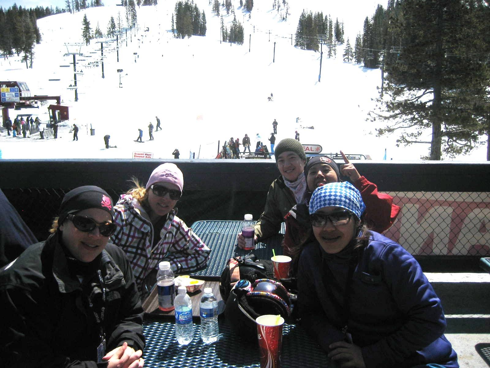 Part of the 2010 newbie class at the Academy Snowboards sponsored camp at Boreal.