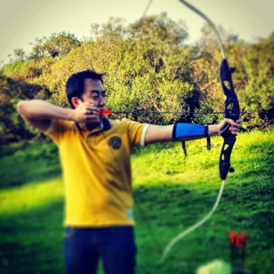 Archery noob on day one.
