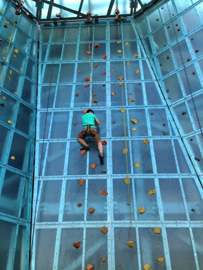 Got to try my first climbing gym experience in 2015 at High Point Climbing in Tennessee.