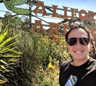 Outside the legendary California Carnivores in Sebastopol, California.