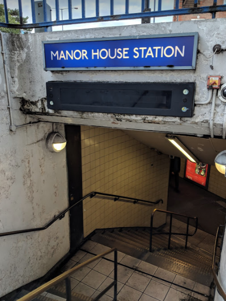 The way in and the way out (if traveling by Underground). The Castle is less than a 10 minute walk from Manor House Station.