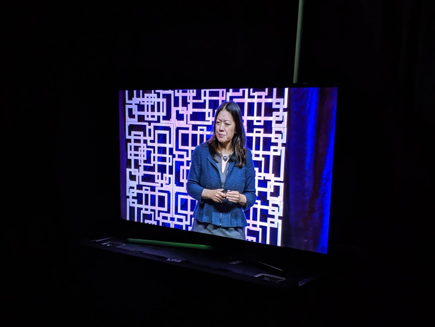 Had the huge pleasure of thanking author     Charlene Li      (   of     Groundswell     fame), who was one of this year's closing keynote speakers. She spoke on disruptive leadership, social media, and member engagement. Here watching her talk from the green room before heading back onstage to thank her and close the conference.