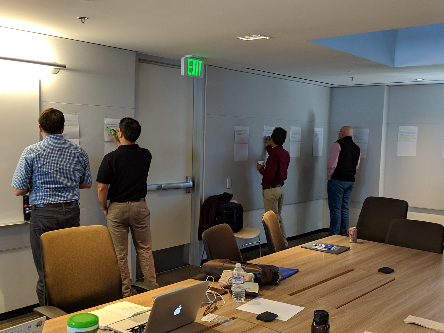 Back to work on our strategic planning session. No workshop is complete without flip charts and dry erase markers.