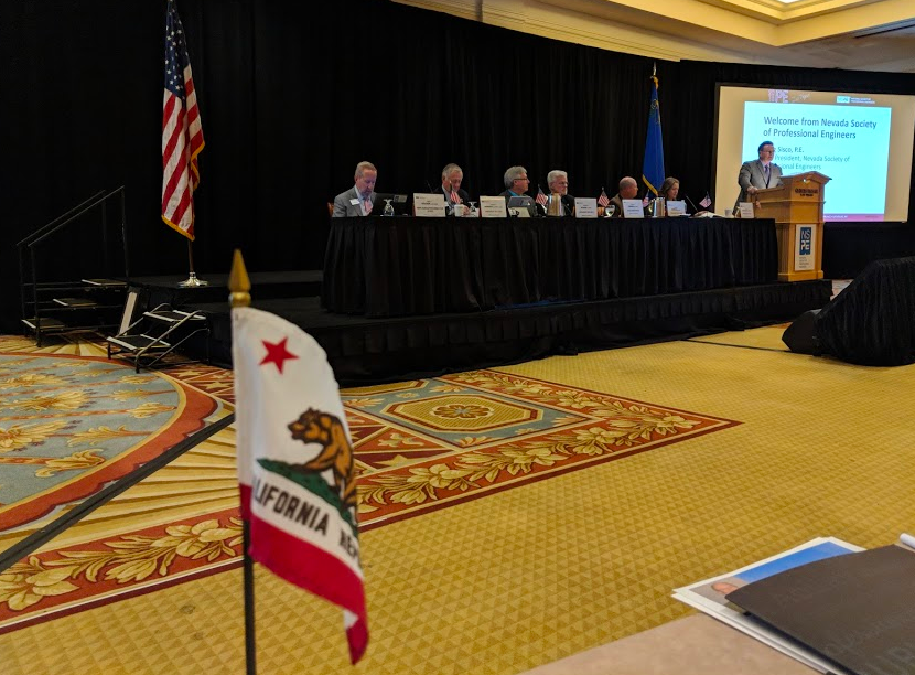 With each of the 50 US States represented at the NSPE House of Delegates, thanks to the alphabet, California's seat is on the front row right up close and personal to the heat of the action. It's been an honor to serve as the NSPE-California State President.