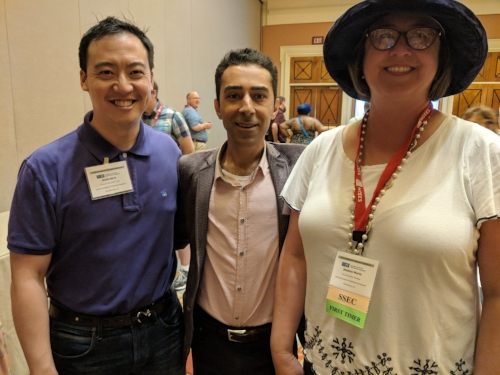 Introducing 75% of my new NSPE-California leadership team around the NSPE community at the 2018 PECON in Las Vegas. Here with Mehdi Khalili, PE (Vice President 2018-19) and our new Executive Director Jeanne-Marie Tokunaga.