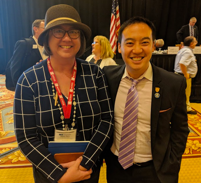 """So lucky to have Jeanne Marie Tokunaga as NSPE-California's new Executive Director: non-profit associations whiz, former journalist, gourmet chef, stamp collecting enthusiast and classic films buff all-in-one. Awesome to have her on our team (using the journalists' """"AP comma"""" in this description just for her)."""