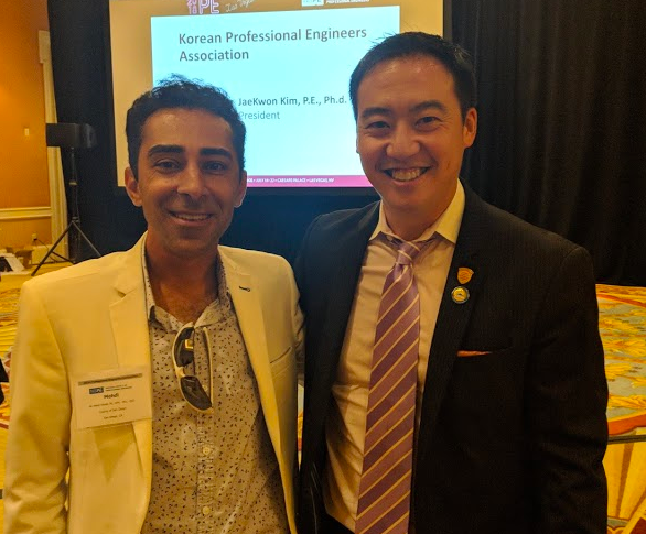 With our NSPE California State Vice-President, Mehdi Khalili after the House of Delegates session.